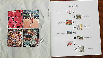 The 1992 collection of Singapore Stamps - Hard Cover Year book