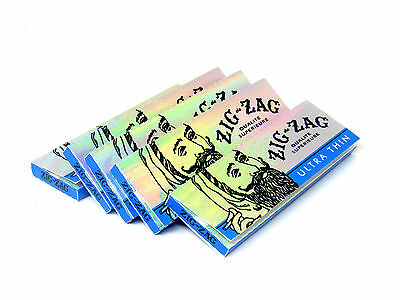 Zig Zag Cigarette Rolling Papers 5 Packs- 32 Papers Pack- Ultra Thin 1 1/4