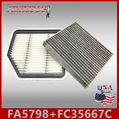 Fa5798 Fc35667C(Carbon) Oem Quality Engine & Cabin Air Filter: 06-13 Is250 & 350