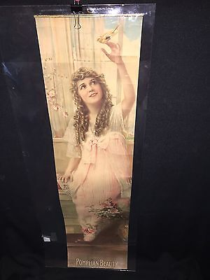 """1917 27 1/2"""" Pompeian Beauty Product Panel Sign"""