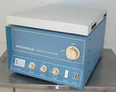 Beckman TJ-6 TJ-6RS Tabletop Centrifuge Tested - Works Well !!!!!!!!!!!!!!!!!!!!