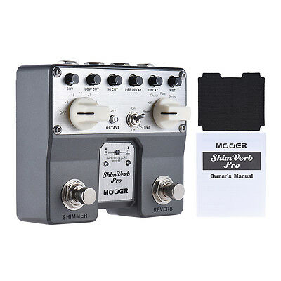 MOOER ShimVerb Pro Digital Reverb Guitar Effect Pedal. Brand New In Box.