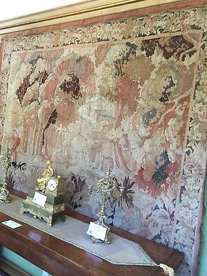 Authentic Antique Belgium Tapestry Hand Loomed 1920's   8' X 6'