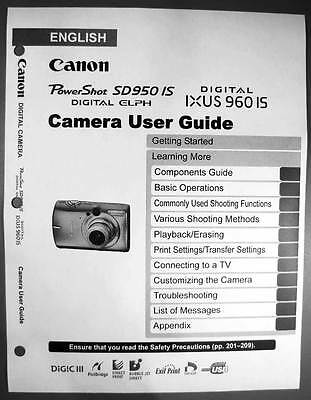 canon powershot sd450 ixus 55 digital camera user guide instruction rh picclick com Canon ELPH Canon IXUS 120 Is