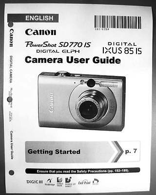 user guide canon powershot sd770 is instruction manual english rh picclick com Canon PowerShot SX130 Manual Canon PowerShot Manual Controls