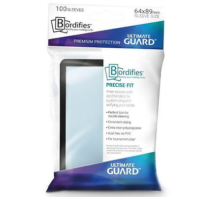 Ultimate Guard Bordifies - Black-Bordered Precise-Fit - 100ct  - Free Shipping