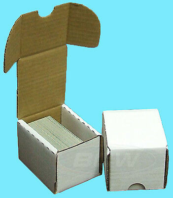 2 BCW 100 COUNT CARDBOARD STORAGE BOXES Trading Sports Card Holder Case Baseball