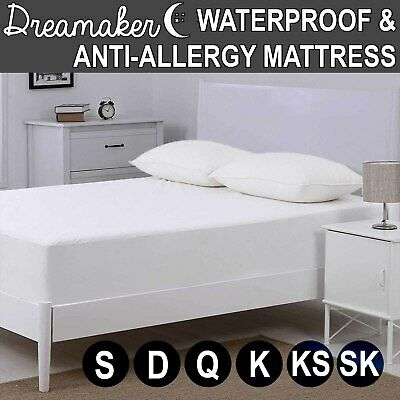 All Sizes Fitted Waterproof Dust Mite Mattress Protector Topper Cover Underlay