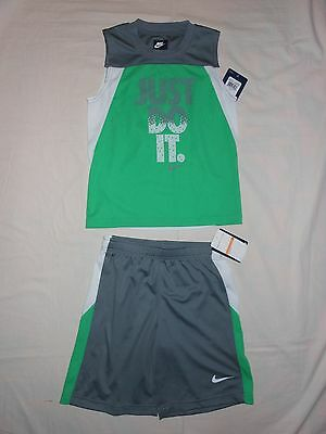 NWT Nike Little Boys 2pc wgn shirt and short outfit set, size 7