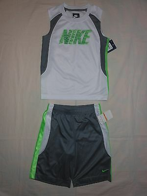 NWT Nike Little Boys 2pc wg shirt and short outfit set, size 7