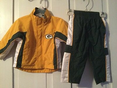 Green Bay Packers Baby Outfit Size 12 Months~Jogging Suit