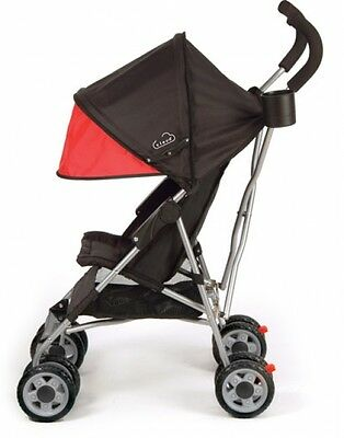 Simple Umbrella Stroller Lightweight Canopy Travel System Safety Harness Red