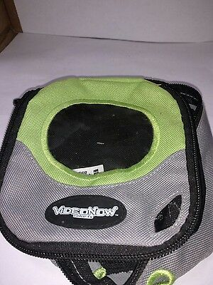 Hasbro Video Now carry case green+grey with zipper and handle