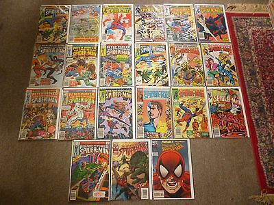 Peter Parker, The Spectacular Spider-Man comic lot x 19 issues plus 2. 21 comics