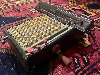 Vintage Monroe Mechanical Calculating Adding Machine circa 1910 Free Shipping!