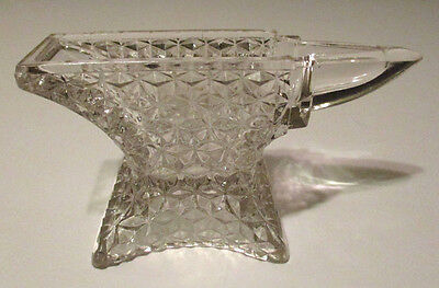 Rare Antique BLACKSMITH ANVIL TOOL Glass FIGURAL CANDY CONTAINER - Vintage