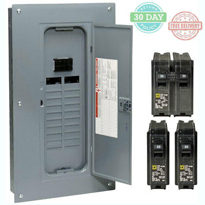 40-Circuit Breaker Indoor Neutral Load Center Main Plug-On 100 Amp 20-Space