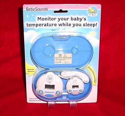 Remote Fever Monitor Bebe Sounds Baby Temperature BR102 Thermometer Alarm Infant