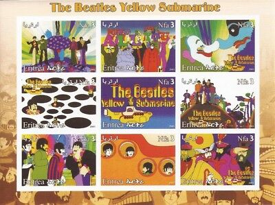 2003 The Beatles Yellow Submarine - 9 Stamp Sheet - 5A-028