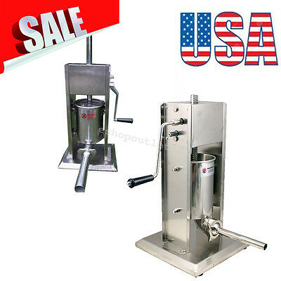 Sausage Stuffer Vertical 5L/15LB 11 Pound Meat Filler Stainless Steel US STOCK