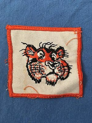 Vintage EXXON TIGER Uniform Patch Gasoline Petroleum Station Oil ESSO ENCO Mobil