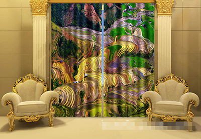 3D Field Plant 3Blockout Photo Curtain Printing Curtains Drapes Fabric Window CA