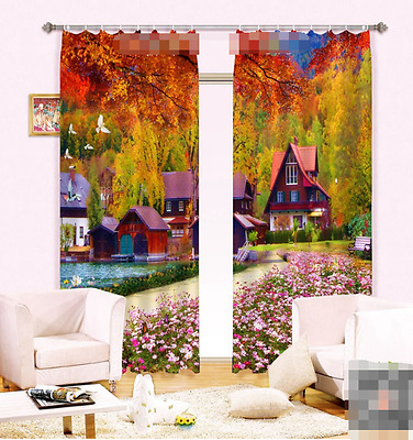 3D Nature View 1Blockout Photo Curtain Printing Curtains Drapes Fabric Window CA