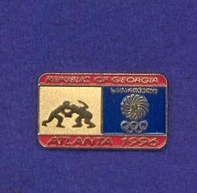 Republic Of Georgia Wrestling Team 1996 National Olympic Committee NOC Lapel Pin