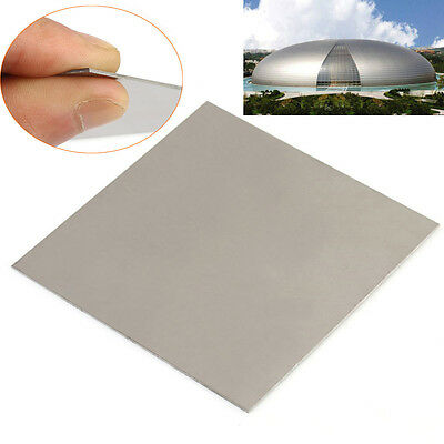 1pc 100mmX100mmX1mm TC4/GR5 1mm Thick Titanium Alloy Metal Plate Ti Sheet Silver