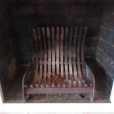 Fireplace Grate – Curved Steel Fireplace Grate, 43A