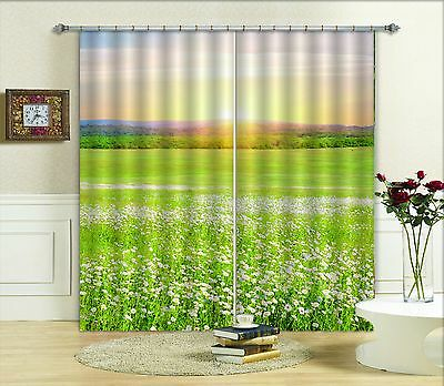 3D Broad Grass 3Blockout Photo Curtain Printing Curtains Drapes Fabric Window CA