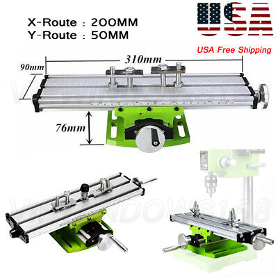 Multifunction Worktable X-Y Axis Cross Slide Vise Fixture Bench Drill Milling