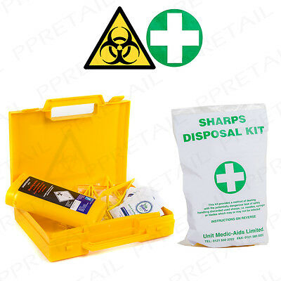 HSE BIOHAZARD SHARPS DISPOSAL KITS Needle/Syringe/Blade Medical Safety Waste Set