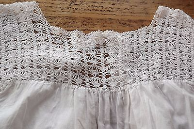 Antique Edwardian All In One / Camisole /petticoat /dress With Crochet Lace