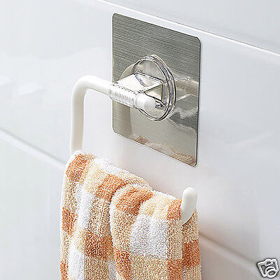 Seamless Suction up Paper Towel Holder Roll Rack Stand Bathroom Toilet Kitchen