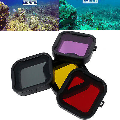 4 X Diving Filter Underwater Sea Dive Lens Filter For GoPro Hero3+/3 Plus HERO4