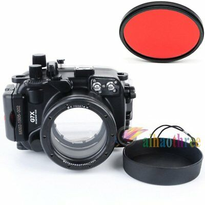Meikon 40m 130ft Waterproof Diving Case Cover For Canon PowerShot G7X Camera【AU】