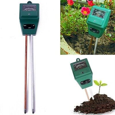 Garden Plant Flower 3 in 1 PH Tester Soil Water Moisture Light Test sensor Meter