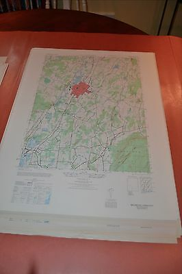 1940's Army topographic map Wallingford Connecticut -Sheet 6466 IV NE