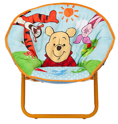 Delta Children Winnie the Pooh Saucer Chair, Kids Collapsible Chair By Delta