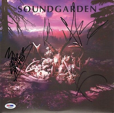 "CHRIS CORNELL +3 Signed SOUNDGARDEN ""King Animal Demos"" Album LP PSA/DNA #T08979"