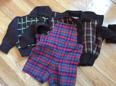LOT 2-4? vintage Hand made boys knit sweaters and shorts