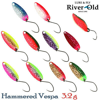 Assorted Colors RIVER OLD HAMMERED VESPA 3.2 g, 31 mm Trout Spoon