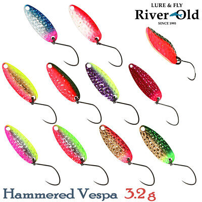 River Old Hammered Vespa 3.2 g, 31 mm Trout Spoon Assorted Colors