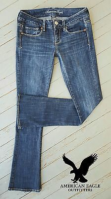 Women's SUPER NICE! American Eagle® Skinny Kick Low-Rise Flare Stretch Jeans 4