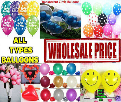 100 LARGE PLAIN BALONS BALLONS HELIUM BALLOONS Birthday Wedding BALOONS PARTY