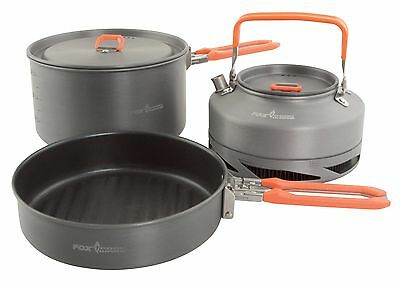 Fox 3 Piece Pan & Kettle Cookset / Cook Set - Ccw001