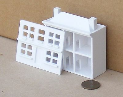 1:12th Scale White Painted Wooden Toy Pine House Dolls House Miniature Accessory