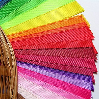Solid Satin Ribbon By The Metre - 100% Polyester, Width 3mm-25mm, Length 1-3m