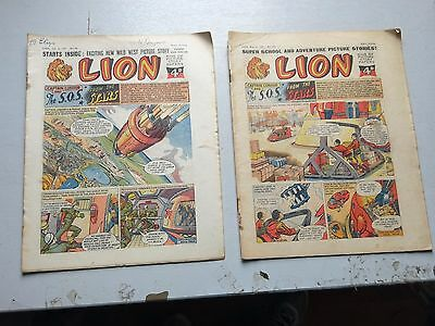 LION COMICS  2 ISSUES  FROM 1957  NO,s 273 AND 281